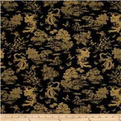 Birdsong Pearls of Wisdom Toile Black