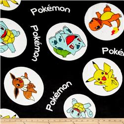 Kaufman Ultra Plush Fleece Pokemon Bubbles Black