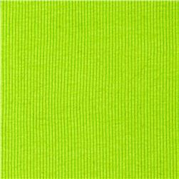 Cotton Rib Knit Bright Lime