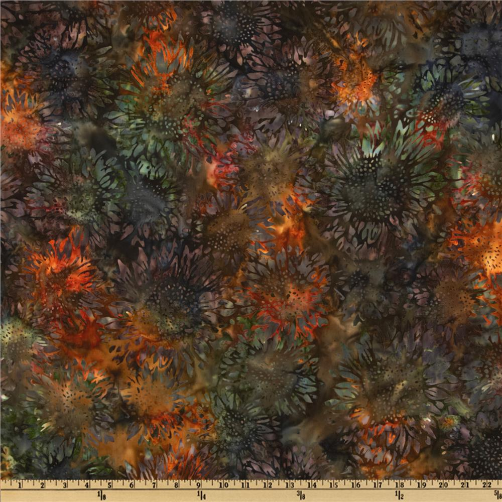 Artisan Batik Cornucopia 4 Sunflowers Medium Autumn