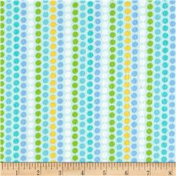 Kanvas Zoo Baby Flannel Zoo Dot Aqua
