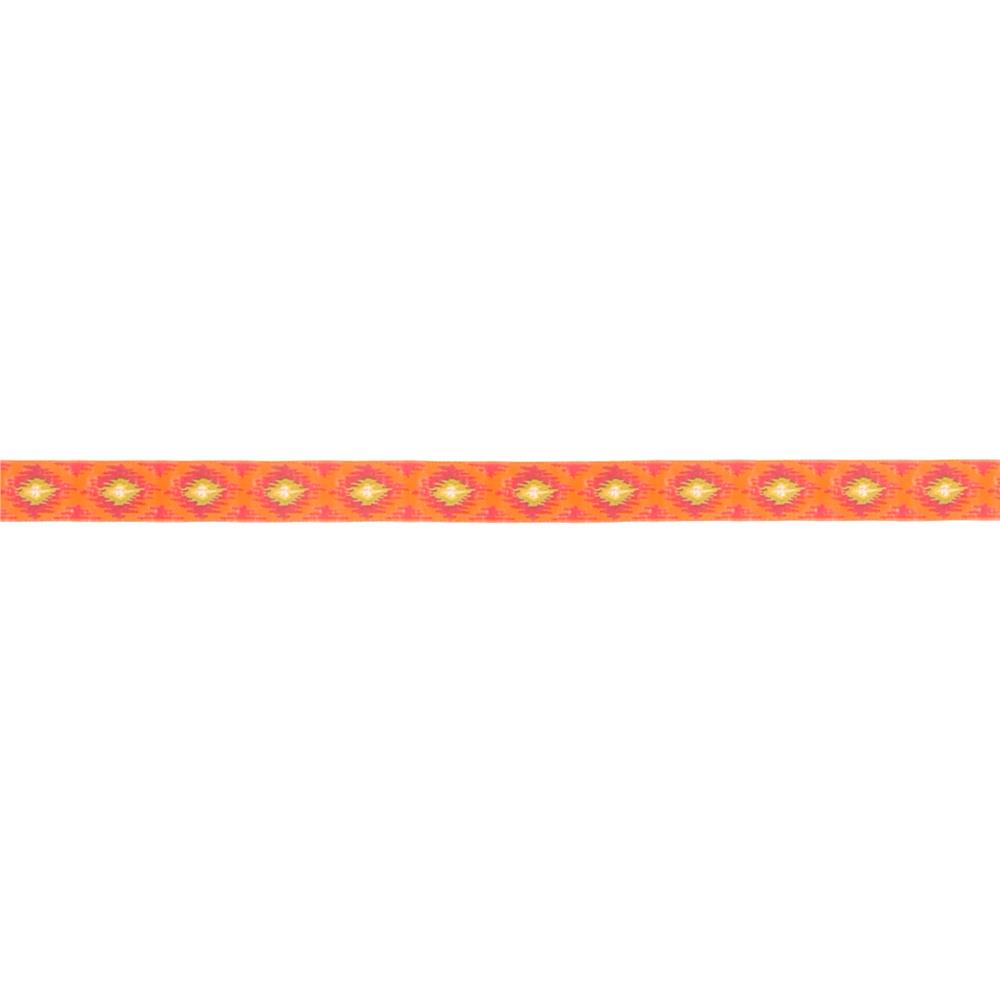 5/8'' Dena Designs Ikat Ribbon Orange