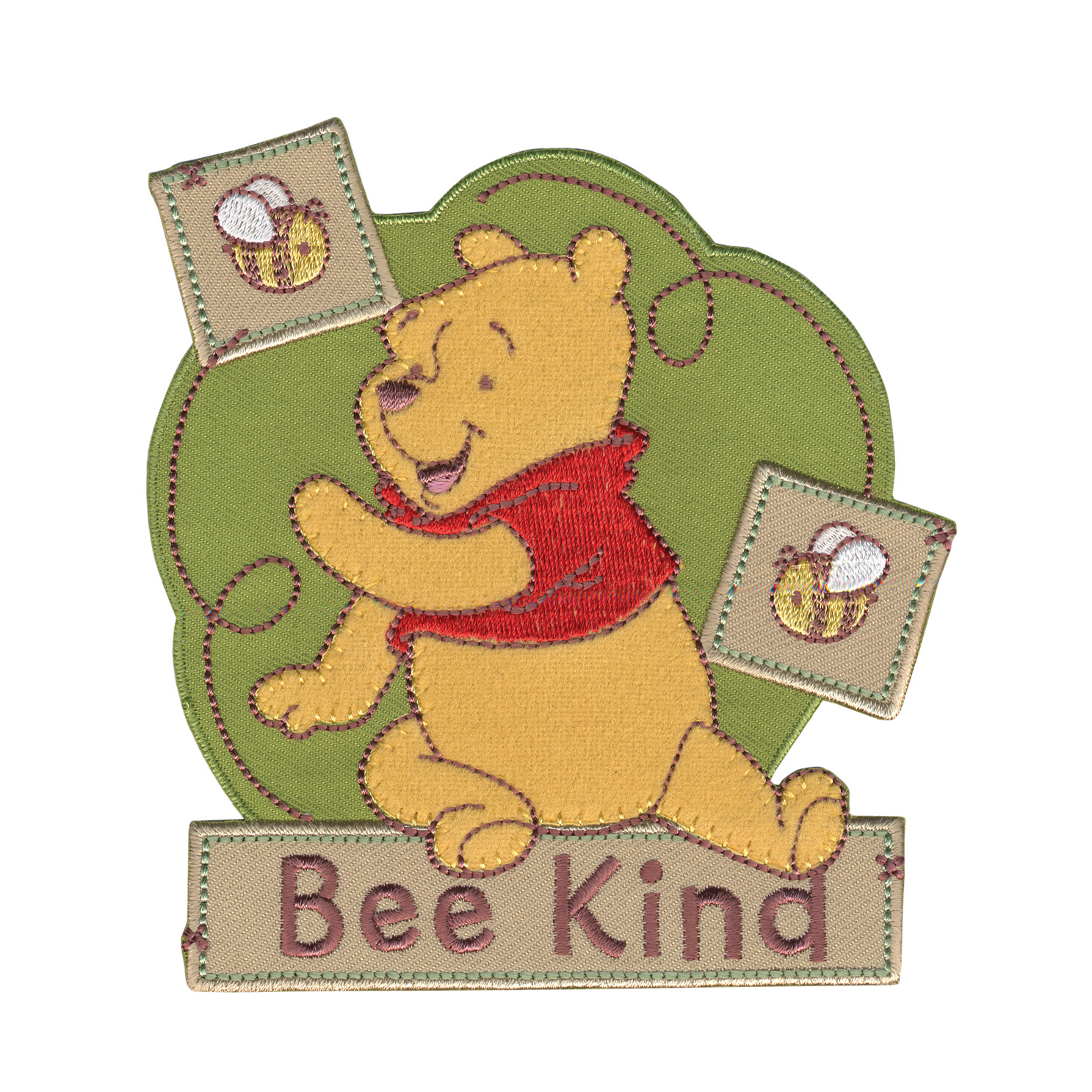 Disney Winnie The Pooh Iron On Applique Bee Kind by Notions Marketing in USA