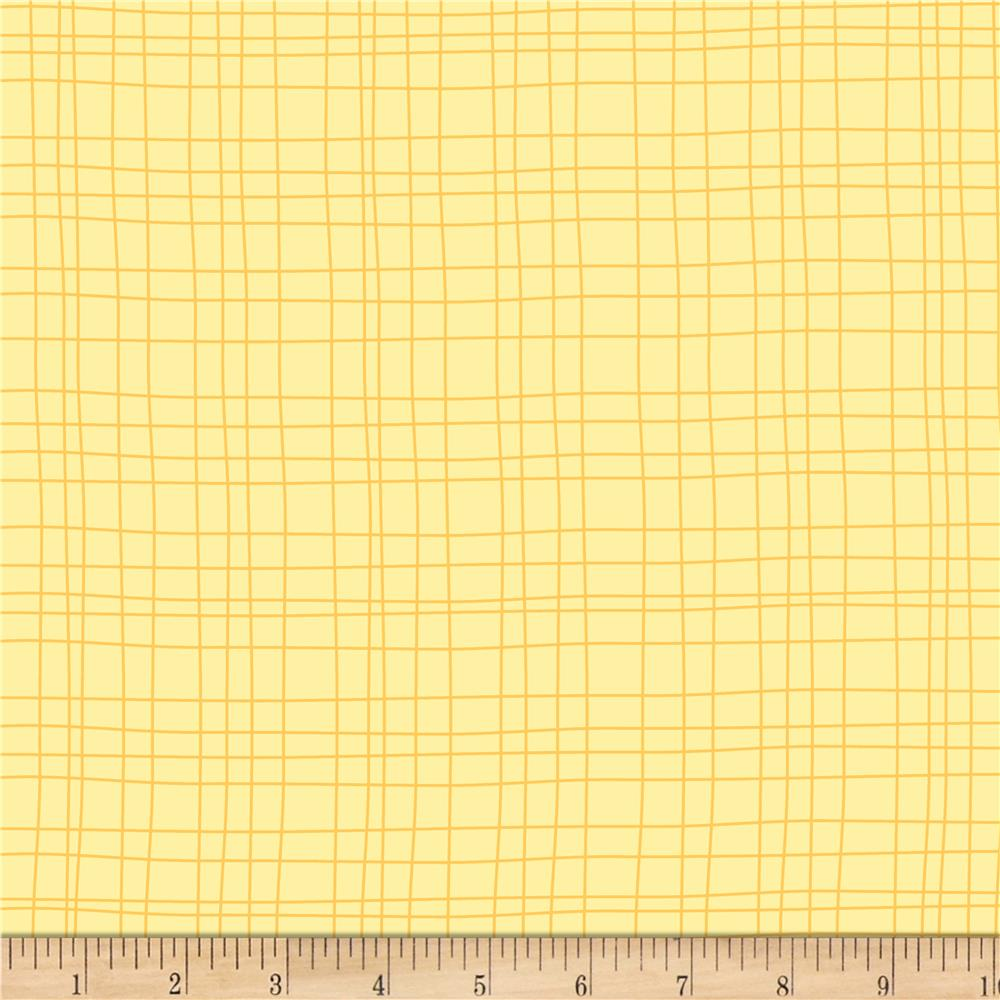 Sweet Meadow Flannel Grids Yellow