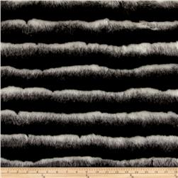 Faux Fur Maki Fur Black White