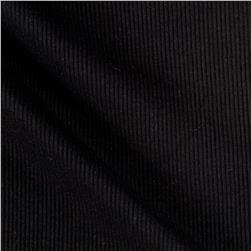 2x1 Rib Knit Solid Black