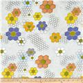 Moda Quilt Blocks Hexie Flowers Shade