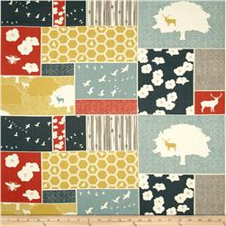 Birch Organic Canvas The Grove Home Decor Patch Blocks Multi