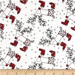 Cotton Jersey Knit Wacky Reindeer