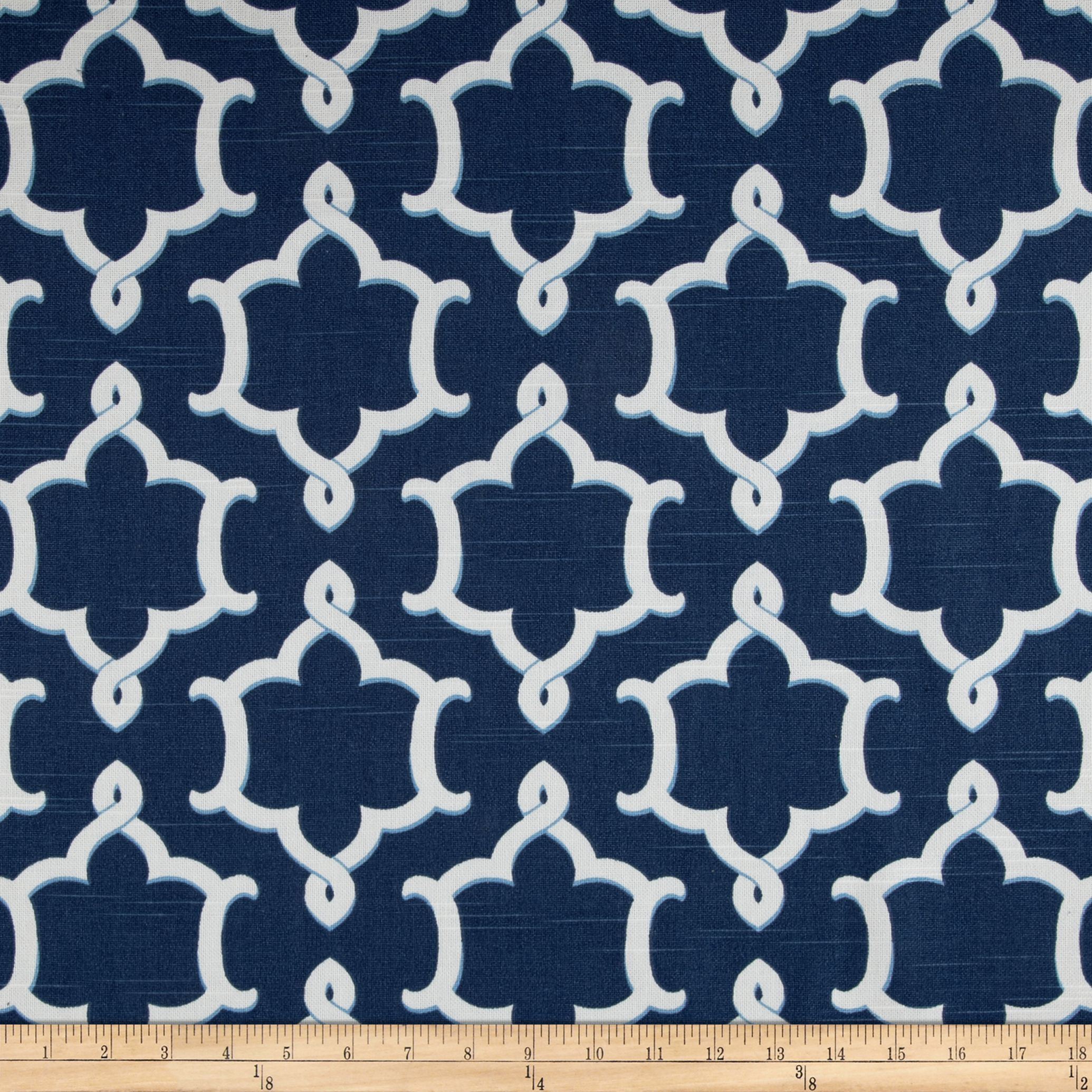 Home Accents Medina Slub Baltic Blue Fabric