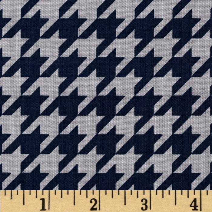 Riley Blake Medium Houndstooth Navy/Gray