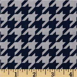 Riley Blake Medium Houndstooth Navy/Grey