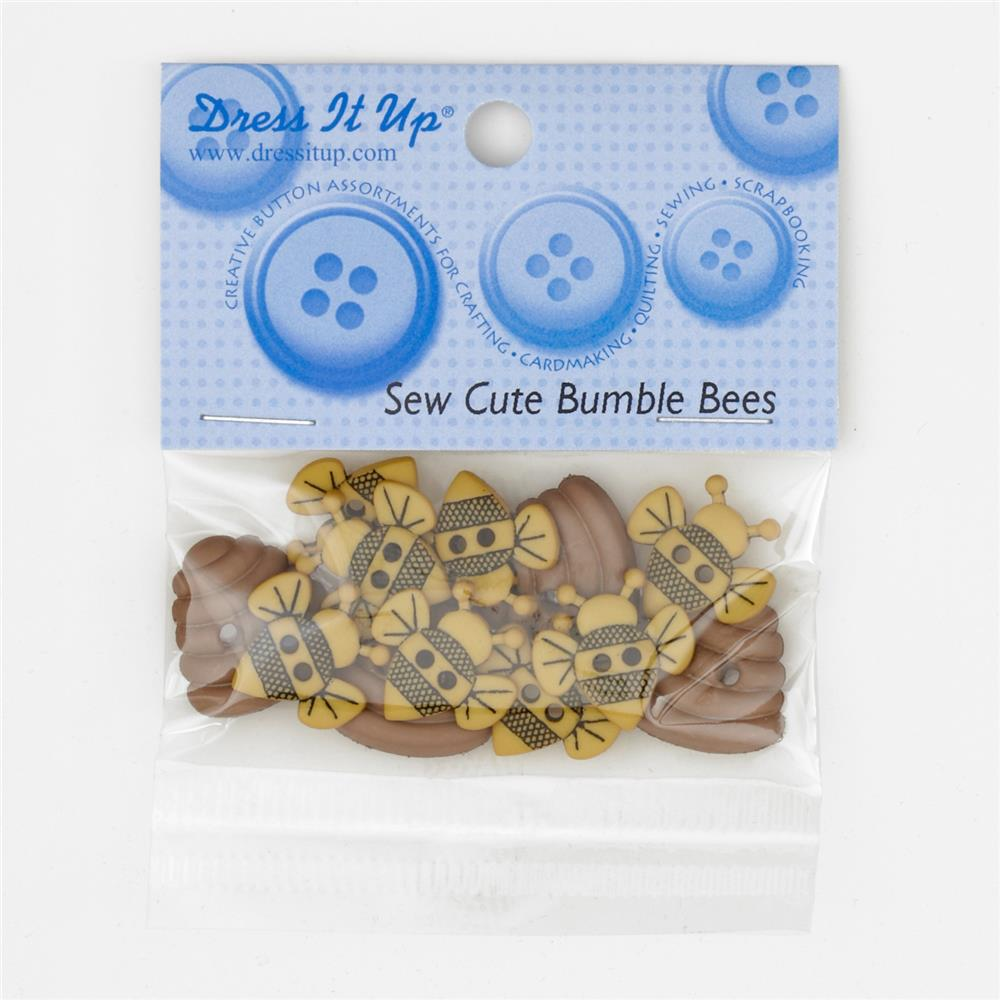Dress It Up Embellishment Buttons Sew Cute Bumble