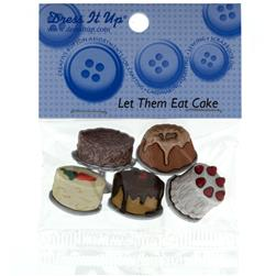 Dress It Up Embellishment Buttons  Let Them Eat Cake