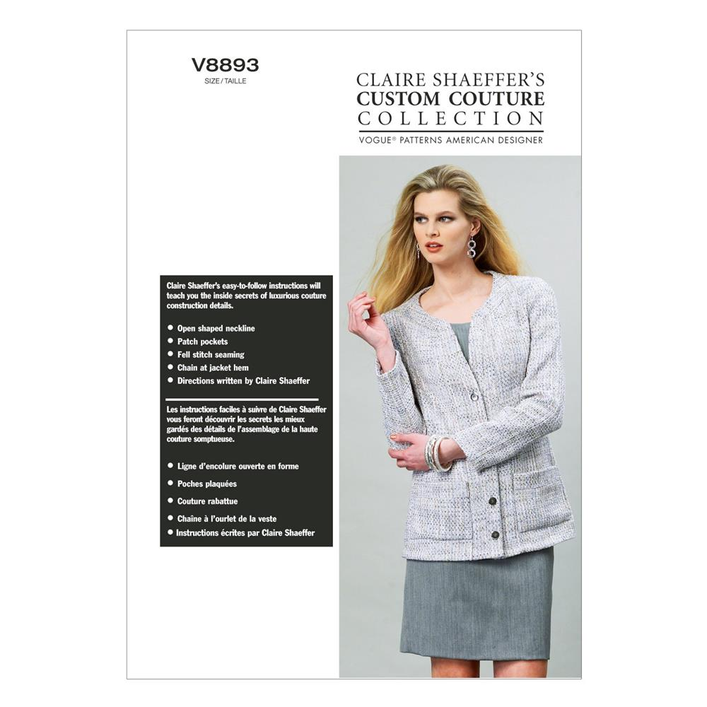 Vogue Misses' Jacket Pattern V8893 Size B50