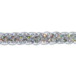 1/2'' Sequin Braid Cord Trim Silver