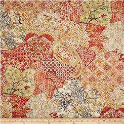 Richloom Sabrina Twill Lacquer Red