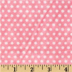 Minky Cuddle Classics Swiss Dot Paris Pink/Snow Fabric