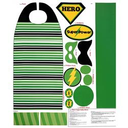 Riley Blake Super Hero Cape Panel Green Fabric