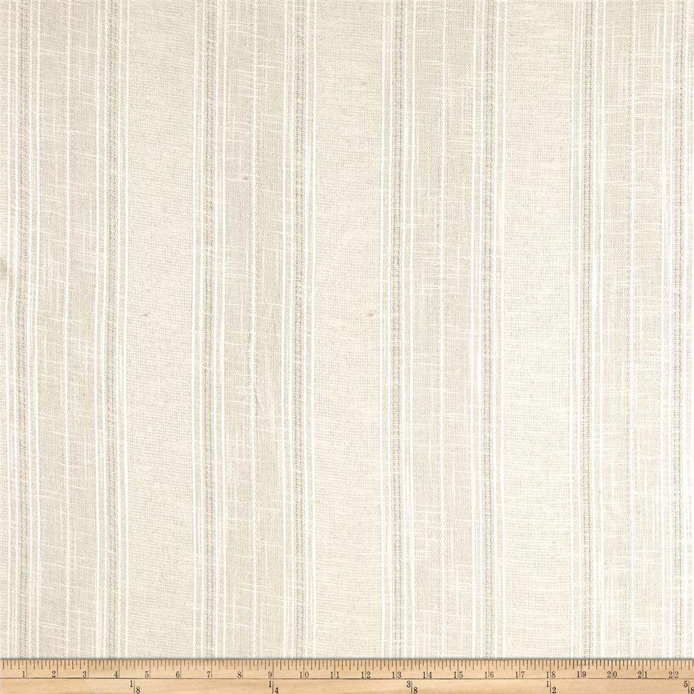 Drapery sheer texture woven stripe beige discount for Sheer fabric