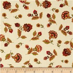 Timeless Treasures Marigold Small Floral Toss Cream