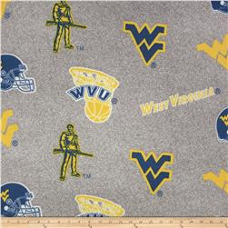 Collegiate Fleece University of West Virginia Heather Grey