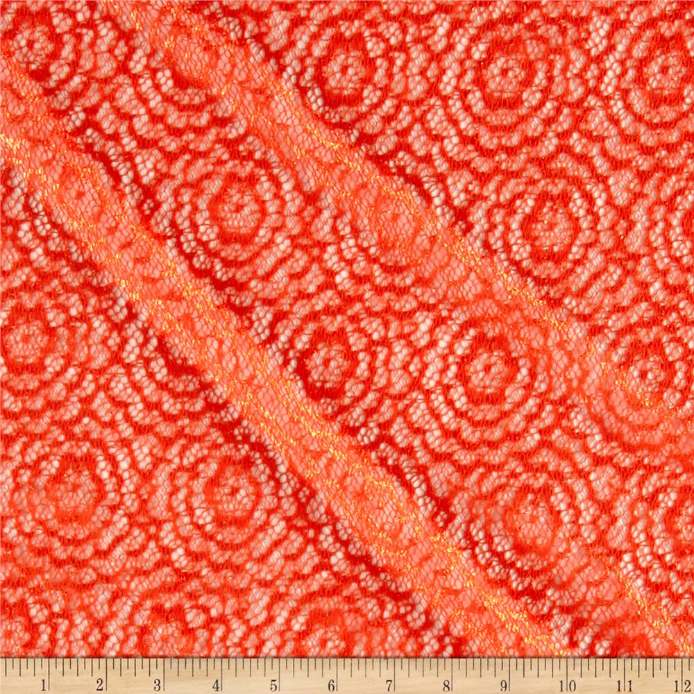 Stretch Crochet Lace Coral