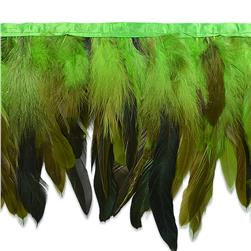6'' Fionna Feather Trim Green
