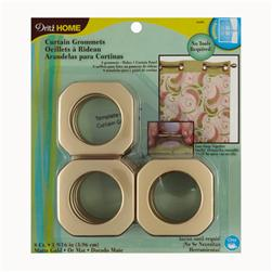 Curtain Grommets Square 1 9/16'' Matte Gold