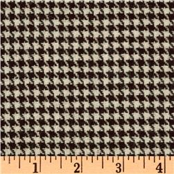 Wool Blend Suiting Houndstooth Coco/Ivory
