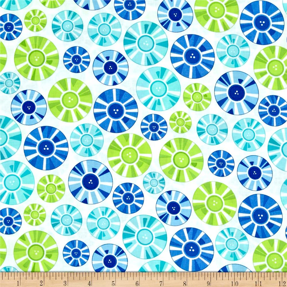Moda Brighten Up! Circle Up Blue/Green