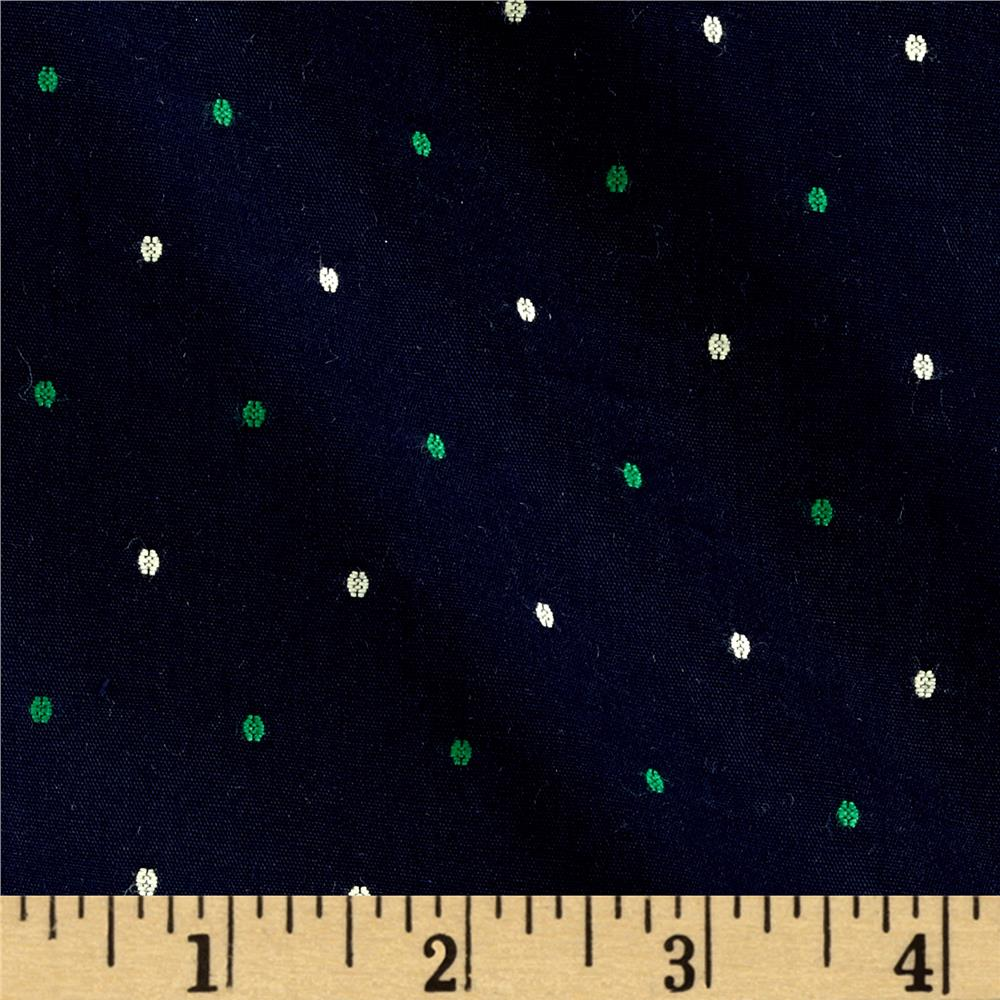 Kaufman Sailors Cotton Dobby Dots Bermuda