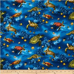 Island Sanctuary Sea Turtles Ocean Fabric