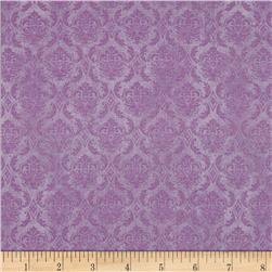 On Top of the World Damask Light Purple