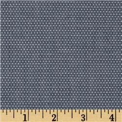 Cotton Chambray Pin Dots Indigo
