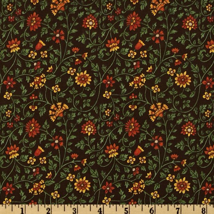 Floral & Vine Brown/Rust