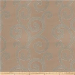 Fabricut Brando Scroll Silk Seamist