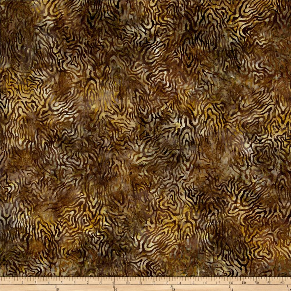 Wilmington Batiks Rippled Reflections Dark Tan