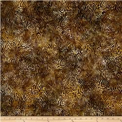 Batavian Batiks Rippled Reflections Dark Tan