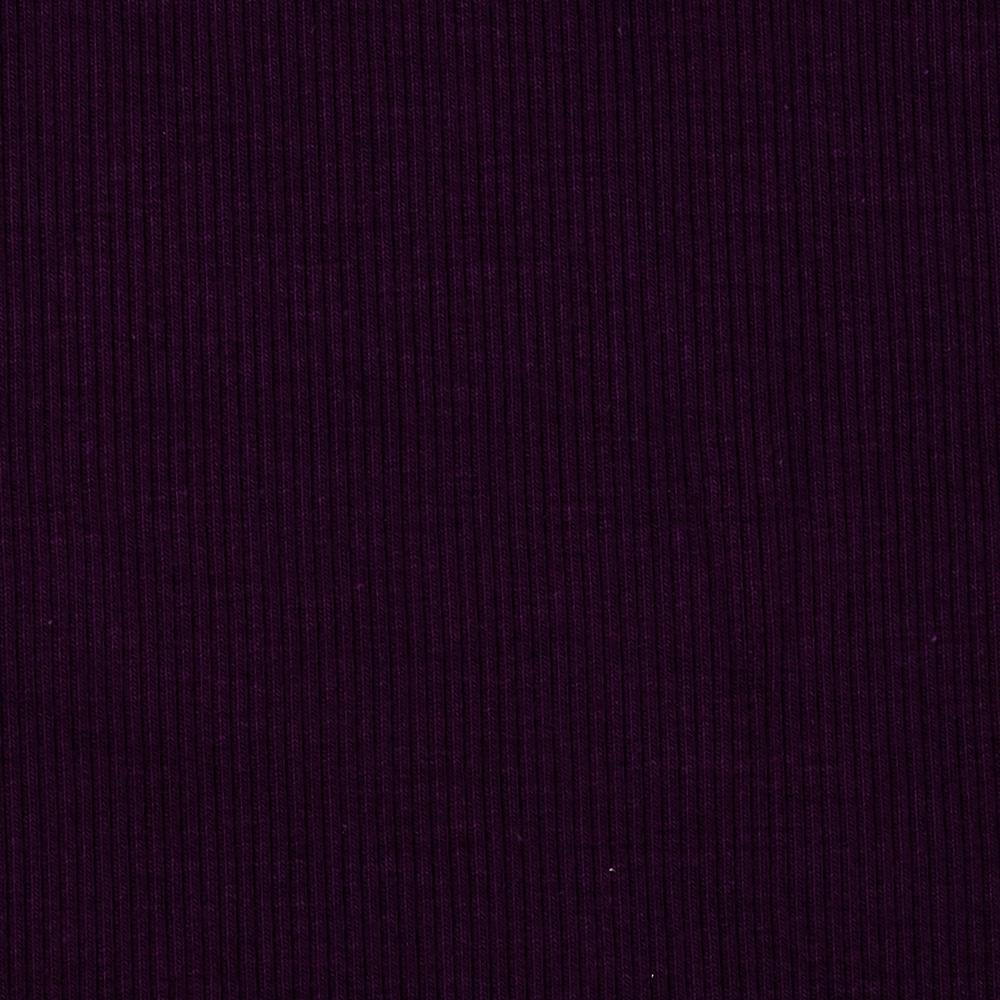 Stretch Bamboo Rayon Rib Knit Solid Violet