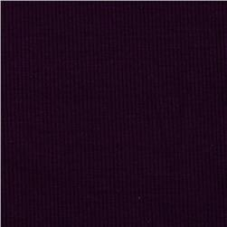 Stretch Bamboo Rayon Rib Knit Solid Violet Fabric