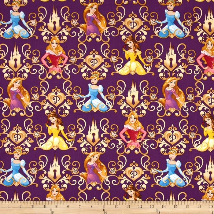 Disney Princess Keys Princess Scroll Purple