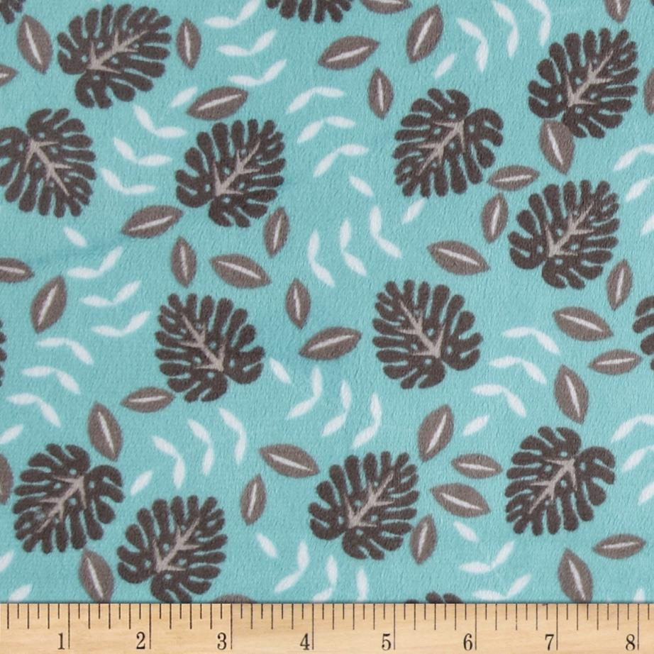 Minky Cuddle Jungle Palm Ash/Topaz
