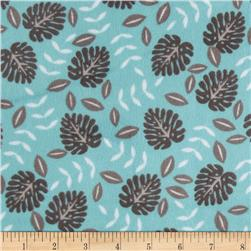 Minky Cuddle Jungle Palm Ash/Topaz Fabric