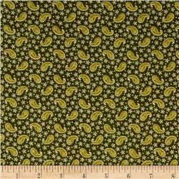 Cozies Flannel Harvest Paisley Green