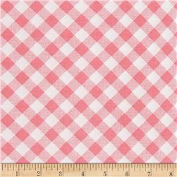 Riley Blake Sew Cherry 2 Gingham Pink