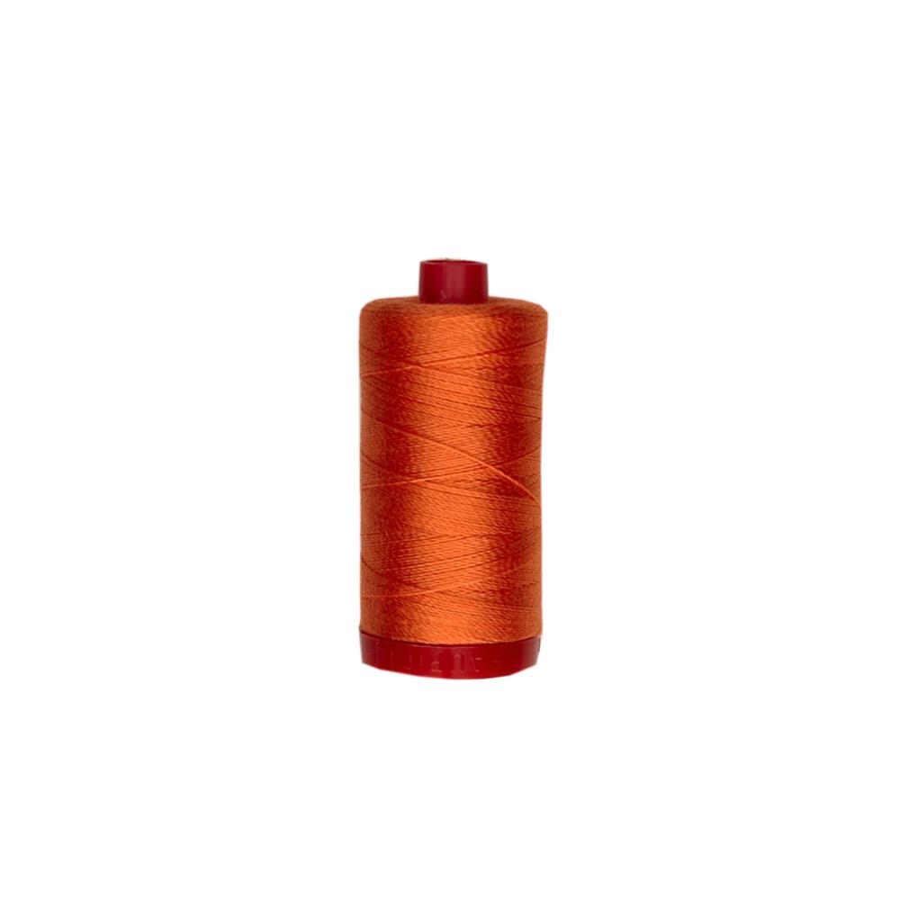 Aurifil 12wt Embellishment and Sashiko Dreams Thread Dusty Orange
