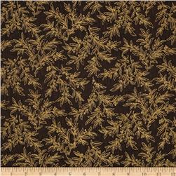 Berries and Blooms Metallic Mistletoe Brown/Gold