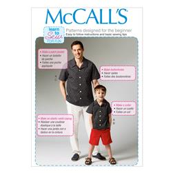 McCall's Men's/Boys' Shirt, Shorts and Pants Pattern M6972 Size KID