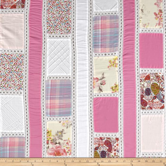 Vintage Cuts Patchwork Lawn Pink